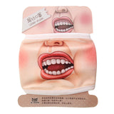Men Women Funny 3D Human Expression Face Mask Teeth Anti-dust Mouth Protector
