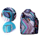 Casual Flower Pattern Printing Nylon Crossbody Bag Lightweight Shoulder Bags