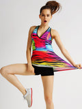Casual Sport Breathable Fitness Colorful Printed Yoga Gym Tank Top For Women