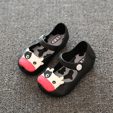 Kids Children Beach Summer Shoes Fish Mouth Sandals Cow Cattle Rainy Rubber Footwear