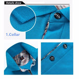 Men's Spring Summer Multicolor Turn-down Collar Solid Color Cotton Polo Shirts