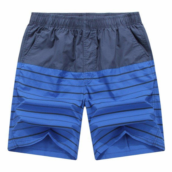Summer Cool Mens Beach Knee-Length Shorts Stripes Quick-drying Shorts