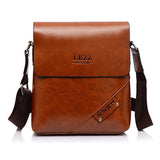 Men Business PU Leather Casual Shoulder Messenger Briefcase Crossbody bag
