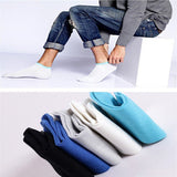 Men's Cotton Breathable Sports Short Socks Splicing Color Double Cuff Trainer Waffle Socks