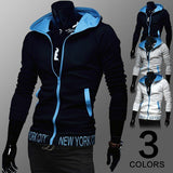 Men's Fashion Zipper Hooded Sportswear Thin Casual Sweatshirt