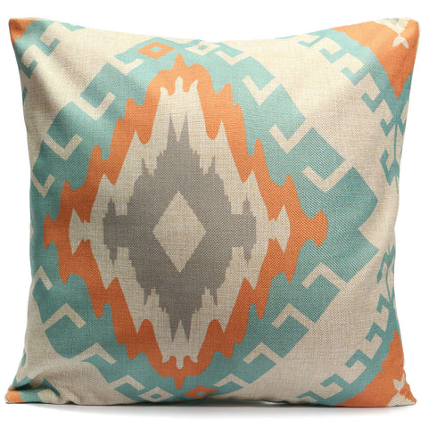 45x45cm Square Linen Pillow Cases Nordico Geometric Pattern Chair Cushion Home Office Decor