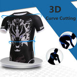 Mens Ghost Wolf Printing Quick Drying Gym Sports Bodybuilding Tops T-shirt