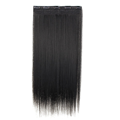 Women Clip In Hair Extensions Long Straight Curly with 5 Clips 3 Colors
