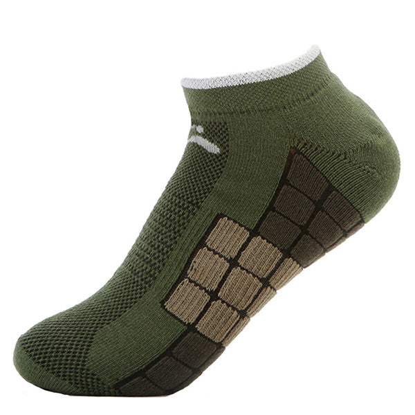 Outdoor Sport Check Terry Cotton Thick Anti-Skid Deodorant Anti-Friction Boat Socks For Men