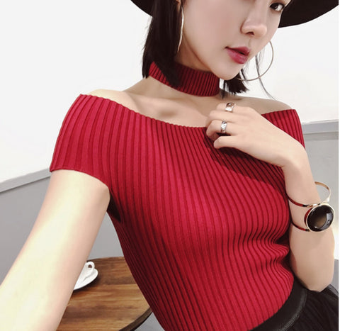 Women Fashion Pure Color Sweater
