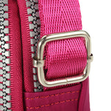 Women Men Causal Nylon Waterproof Multi-pocket Phone Bag Shoulder Bags Crossbody Bags
