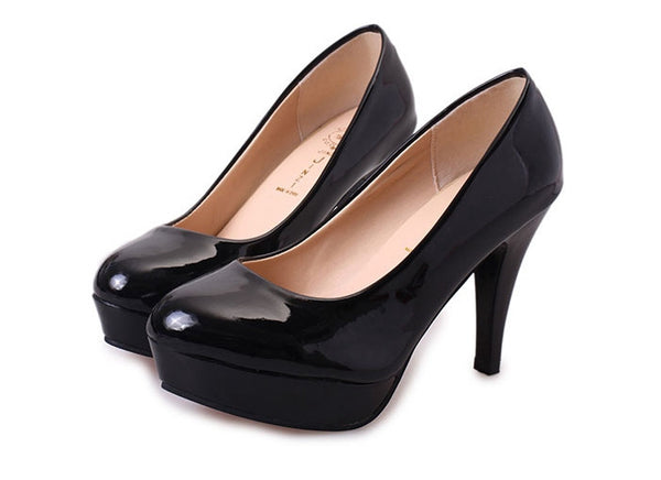 2017 New Spring Summer Waterproof High Heels Office Lady Pumps