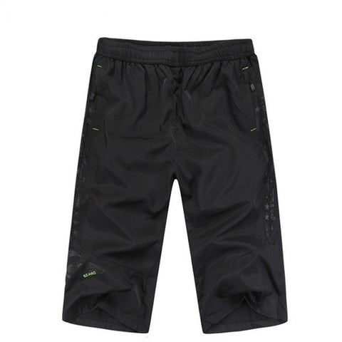 Men's Casual Shorts Loose Large Size Zipper Pocket Short Pants Middle Pants Jogger Shorts