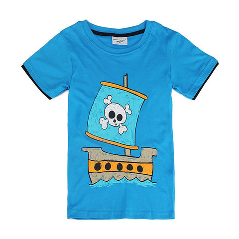 Corsair Children Boy Pure Cotton Short Sleeve T-shirt Top
