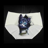 Women Sexy Lovely 3D Animal Briefs Vivid Cute Pet Seamless Panties Underwear