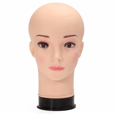 Female PE Mannequin Head Model Manikin for Wig Hair Glasses Display