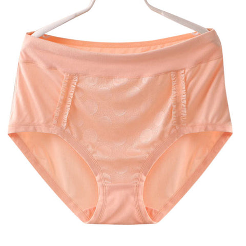 2XL-3XL Women Breathable Milk Silk Panties Soft Lace Mid Waist Underwear - shechoic.com