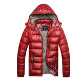 Men's Winter Thickened Warm Windproof Down Jacket Detachable Hat Coat