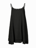 Sexy Solid Strap Sleeveless Chiffon Tops For Women