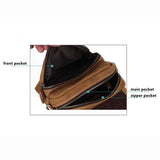 Men Genuine Leather Vintage Casual Crossbody Bag Retro Business Shoulder Bag