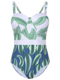 Sexy Printing Push Up Bikini Set High Waist Swimsuit For Women