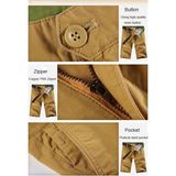 Summer Casual Cotton Big Size Knee Length Solid Color Cargo Shorts For Men