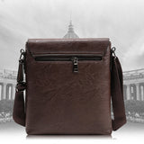 Men Crossbody Bag PU Faux Leather Shoulder Bag Business Bag