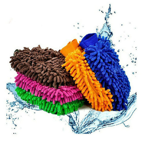 1 piece Car Product Cache Gloves Chenille Wash Mitt Brush Washing Tools