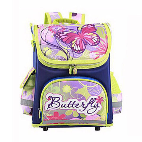 Children Orthopedic Backpack Girls Butterfly Schoolbag Students Waterproof Large Capacity Bag