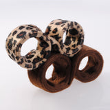 Ladies Hair Bun Hair-Clip Leopard Brown Accessory