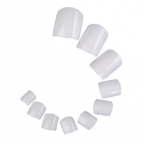 500Pcs White UV Gel Acrylic False Toe Nails Art Tips DIY