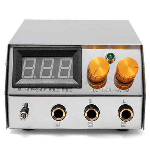 Professional LCD Digital Dual Flat Tattoo Power Supply