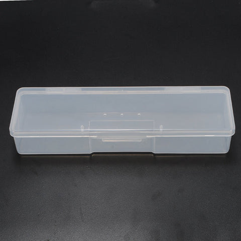 Transparent Rectangular Nail Tips Case Jewelry Watch Storage Box