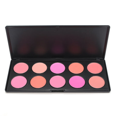 10 Colors Cosmetic Blush Powder Palette Beauty Makeup