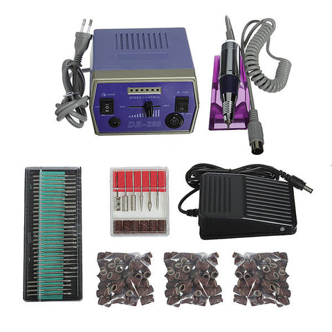Electric Nail Drill Machine Set Manicure Pedicure Tool Set Bits Cleaner Sanding Band Rotary Tools
