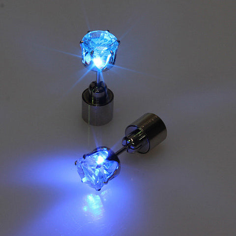 1 Pair LED Christmas Flower Ear Studs