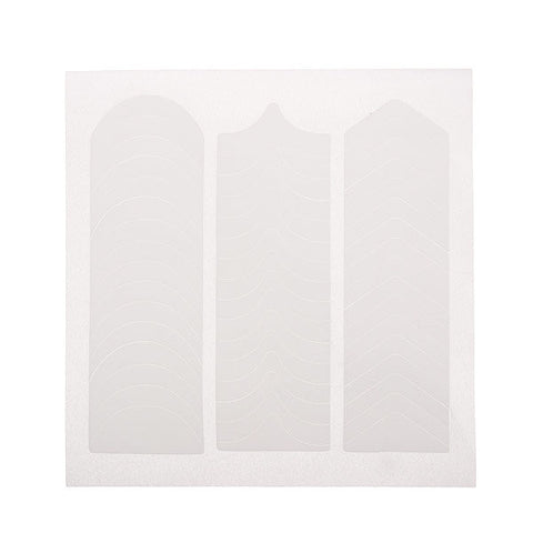 1 Sheet White 3 Style French 3D Nail Tips Guide Stickers