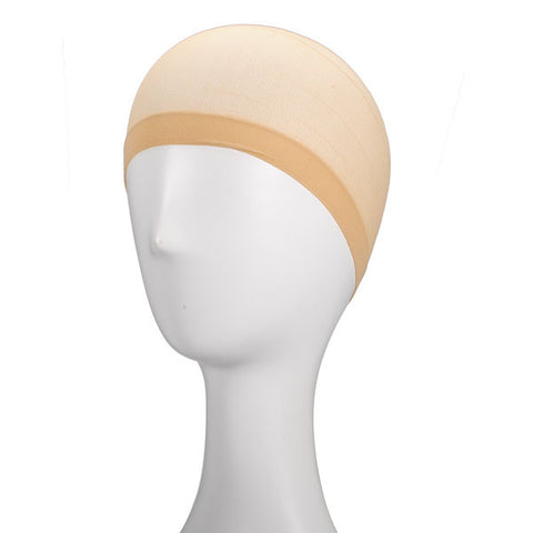 2Pcs Wig Cap Polyester Stretch Stocking Elastic Liner Mesh