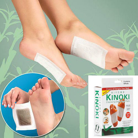 10Pcs Detox Foot Pads Detoxification Patches Feet Care