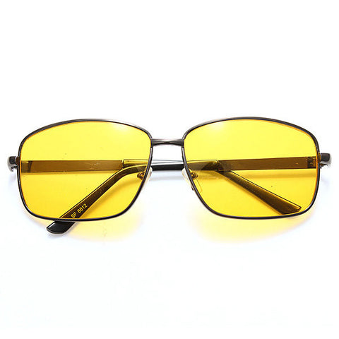 Driving HD Sunglasses Glasses Yellow lens Night Vision Glasses