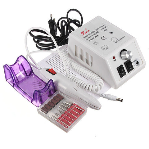220V Professional Electric Acrylic Nail Art Drill Pen Machine Manicure Pedicure Set