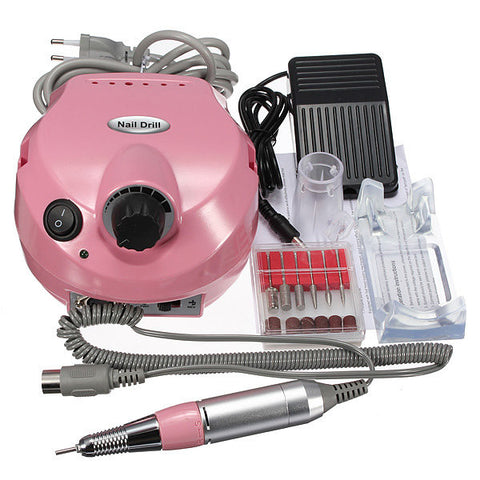220V-250V Electric Nail Drill Machine Set Manicure Pedicure Tool