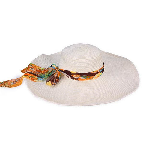 Foldable Large Brimmed Sunshade Summer Straw Hat Sun Hat Beach Hat