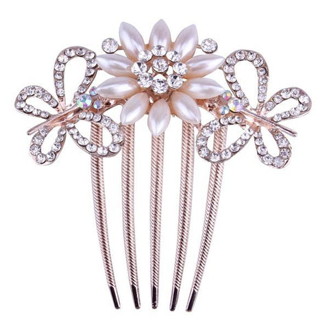 Bride hairpin Bowknot Peacock Insert Five Comb Phoenix Hair Accessory