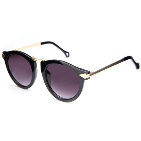 Vintage Men Women Multicolor Metal Frame Sunglasses
