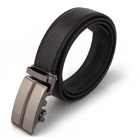 120cm Mens Auto Buckle Leather Waist Splice Belts - shechoic.com