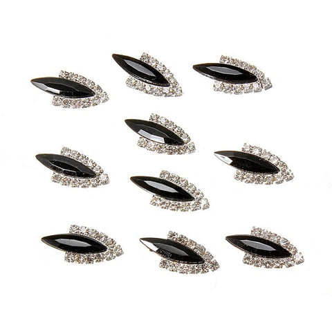 10 Pcs 3D Rhinestone Nail Art Decoration Shiny Alloy Crystal Glitter