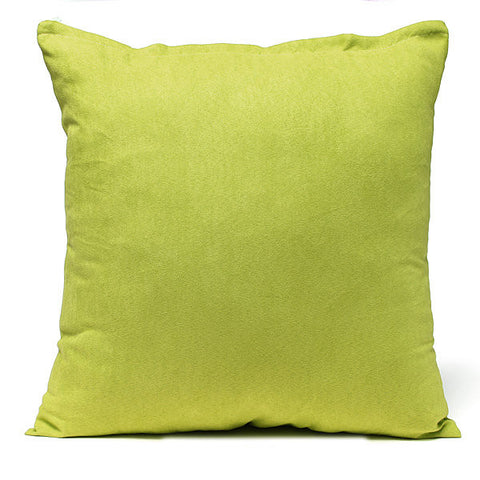 50X50CM Suede Pillow Cases Bed Sofa Office Cushion Cover 7 Candy Colors