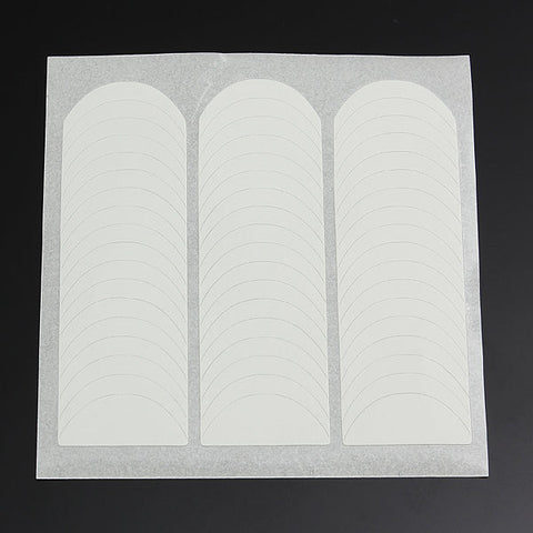 1 Sheet French White Smile Nail Art Stickers Striping Line French Guide Tips