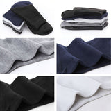 Men's Pure Cotton Business Socks Middle Tube Socks 5 Colors for Free Size 7-9